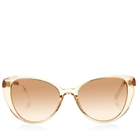 LINDA FARROWRose Gold Cat Eye Sunglasses