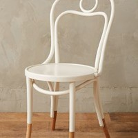 Scrolled Bentwood Dining Chair, Circle by Anthropologie in Cream Size: Circle Furniture