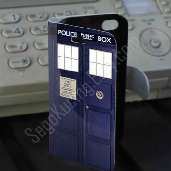 Tardis box Leather Folio Case for iPhone and Samsung Galaxy