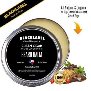 Cuban Cigar Styling Beard Balm | Premium All Natural Beard Balm
