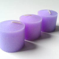 Candles Lavender Aromatherapy Votives by ZEN-ful, Votive Candles, Lavender Gift Pack Candles, Lavender Candles 3 Pack, Gift Ideas