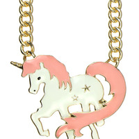 PINK UNICORN CHAIN NECKLACE