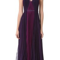 J. Mendel Two Tone Gown with Beaded Straps   SHOPBOP