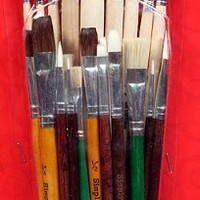 25 Piece Student Paint Brush Assortment for Acrylic, Oil, Watercolors