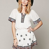 Free People Womens Meet Me Marfa Dress - Dusty Hyacinth, M