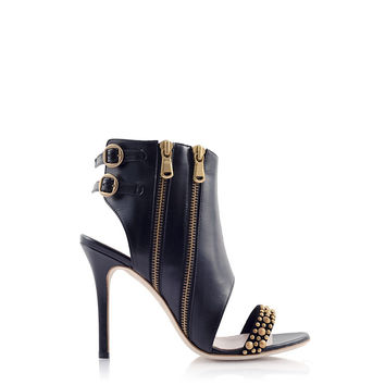 AMAZON Leather Cut-out Bootie
