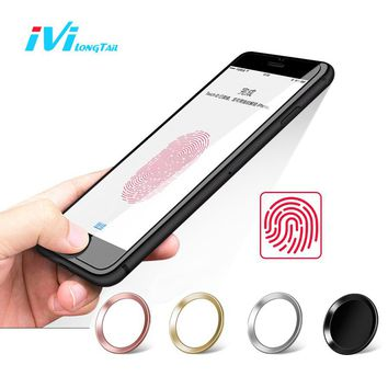 IVI Home Button Stickers for iPhone 5s 6 6s 7 Plus Sticker Touch ID Fingerprint Unlock Decals Film for iPad Air Pro Mini Decals