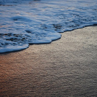 ocean photograph-water-Beach photo-color-Newport Beach-seafoam-California-Sunset-Shoreline-Ocean-8x10