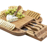 Malvern Cheese Board Set, BambooPICNIC AT ASCOT