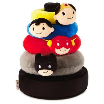 Hallmark itty bittys DC Comics Super Hero Baby Stuffed Animal Stacker