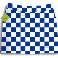 Loudmouth Golf Womens Skorts: Derby Chex - Size 0