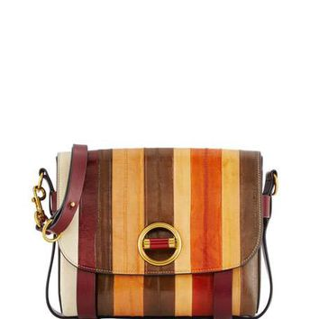 Tory Burch Alastair Small Striped Eel Crossbody Bag, Multicolor