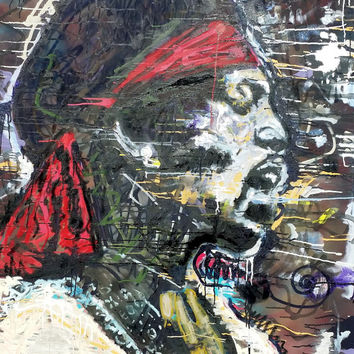 Jimi Hendrix Art Large Wall Art 48x60 Pop Art Painting Rock Art Music Art Large Canvas Painting Large Home Decor Wall Decor Gift Ideas