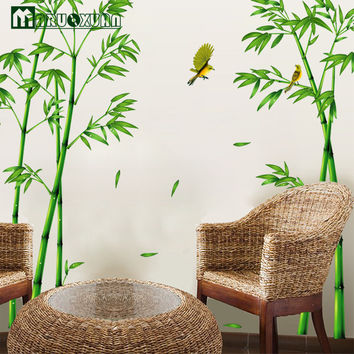 Hot Style Popular TV Setting Wall Room Sitting Room Sofa Decorate Wall Stickers Chinese Wind Stick Bamboo Forest Depths