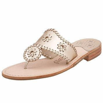 Iconic Jack Rogers Navajo Sandals in Platinum