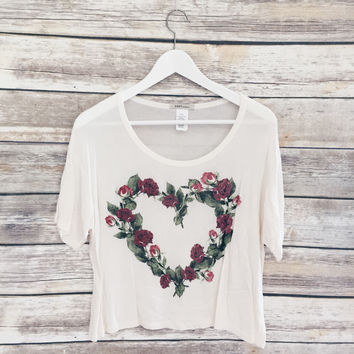 Rose Heart Tee (Cream)