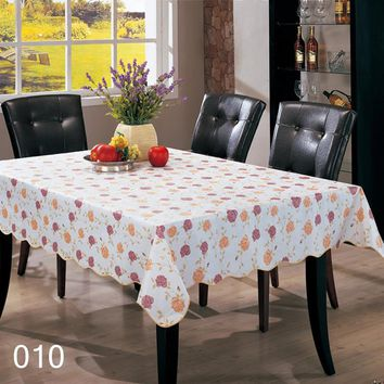 Several Patterns Waterproof & Oilproof Wipe Clean PVC Tablecloth Dining Kitchen Table Cover Protector Fabric Covering #237323