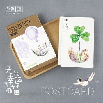 30 pcs/lot Cute plant cat garden postcard landscape greeting card christmas card birthday card message gift cards