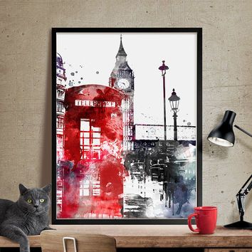 London Big Ben Art, London Art, London Print, London Decor, London Print Wall Art,British Decor  (20)
