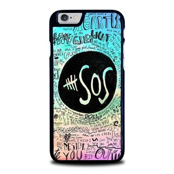 5 seconds of summer 3 5sos iphone 6 6s case cover  number 1