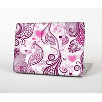 "The White and Pink Birds with Floral Pattern Skin Set for the Apple MacBook Pro 13"" with Retina Display"