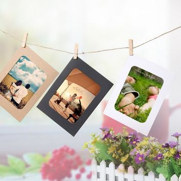 3/5/6 inch DIY Modern Wall Photo Frame Hanging Wall Photos Picture Album Kraft Paper For Family Card Photo Holding And Clipping