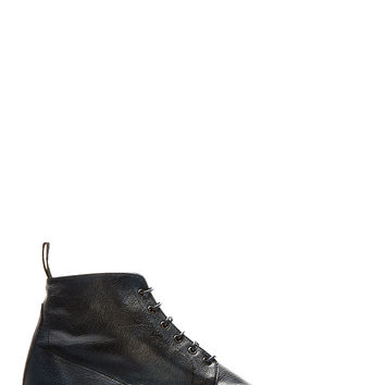 Paul Smith Navy Leather Cesar Boots