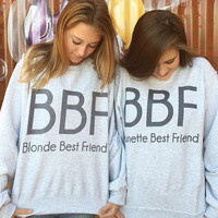 Women Blonde Brunette Best Friends Girlfriends Sweatshirt Women Pullover Hoodies
