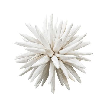 Chinook Wooden Spike Sculpture White