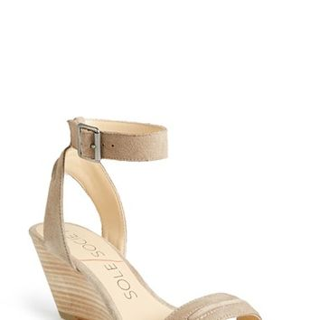Women's Sole Society 'Georgia' Ankle Strap Wedge Sandal,
