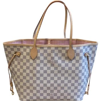 Louis Vuitton Neverfull Mm Rose Ballerine Canvas Tote