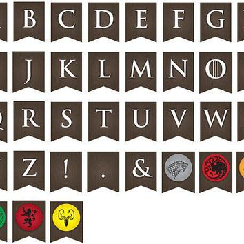 Printable Game Of Thrones Party Banner ... Use Again And Again For Every Event Baby Shower Birthday Etc.