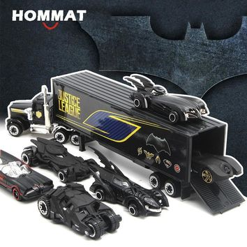 Batman Dark Knight gift Christmas HOMMAT Simulation 1:64 Hotwheels Batman Batmobile Alloy Diecast Toy Hot Wheels Car Model Gift Cars Toys For Children Kids AT_71_6