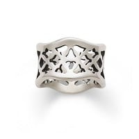 Flowing Floral Lattice Band | James Avery