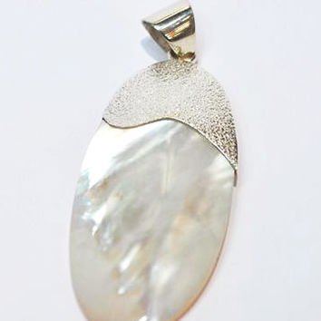 Pearl Shell and Silver Pendant
