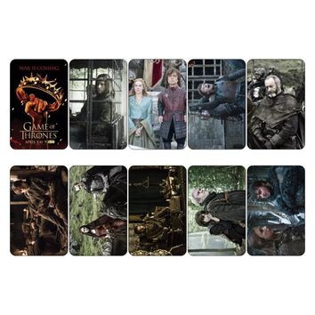 Game of Thrones Season 2 Movie Collectible Diary Scrapbooking Sticker Card Mini Poster Decoration Credit Bus ID Card Stickers