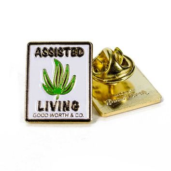 Assisted Living Weed Pin