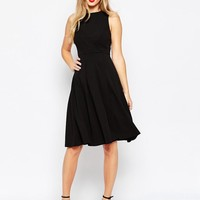 ASOS | ASOS Midi Dress with Pleat Bust Detail at ASOS