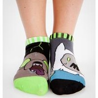Adventure Time Zombie Print Mix & Match No Show Socks 10 Pk