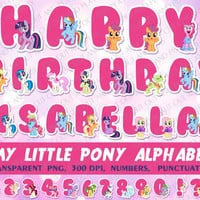 My Little Pony digital Alphabet, clipart,elements, for kids birthday party,invitations,cards,scrapbooking,printable decorations.PNG,300 dpi.