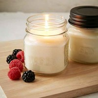 Mine Design Mason Jar Candle-