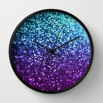 Mosaic Sparkley Texture G198 Wall Clock by MedusArt