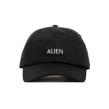 Premium Embroidered Alien Dad Hat - Baseball Cap with Adjustable Closure