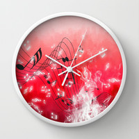 Musicality Wall Clock by Texnotropio