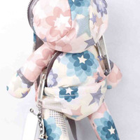 Lesportsac STELLA MCCARTNEY Bunny Grey Blue Pink Backpack Rabbit Bag