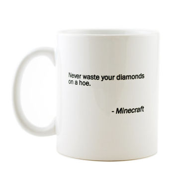 Minecraft Video Game Statement  Mug   -  white ceramic coffee or tea mug