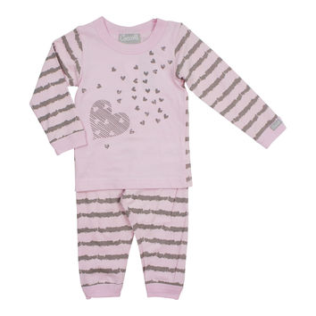 Coccoli Baby Girls' Pink Hearts Pajama