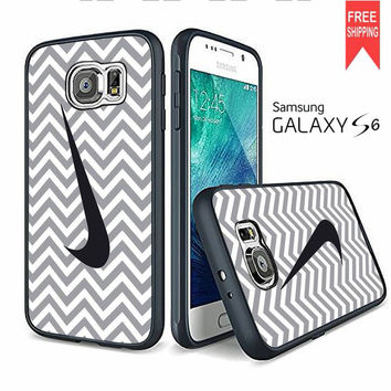 Nike Logo Chevron Gray Dc Samsung Galaxy S6 edge Case