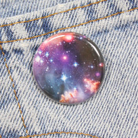 Galaxy Print 1.25 Inch Pin Back Button Badge