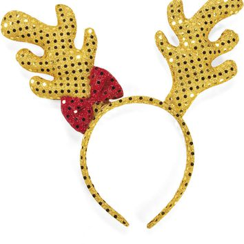 sequin reindeer antler headband Case of 19